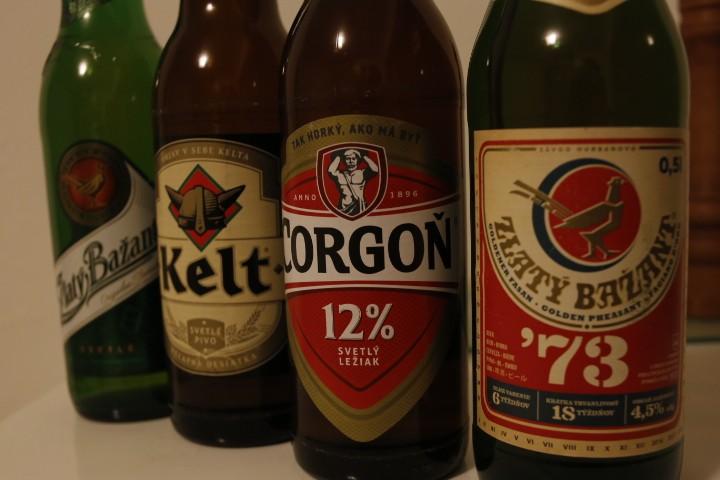 Verschiedene slowakische Biersorten