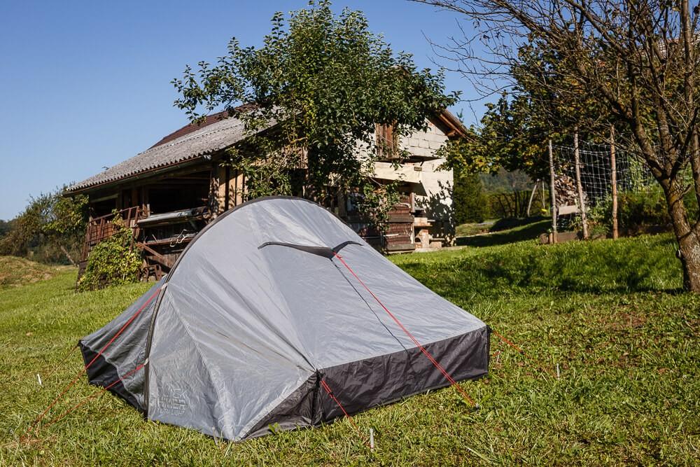 Zelt im Garten