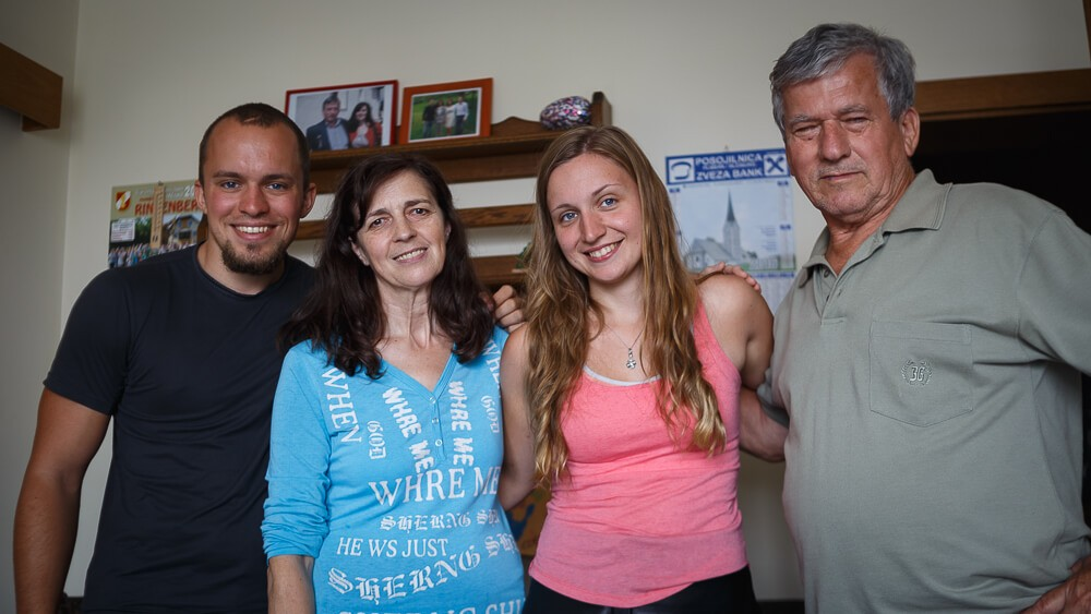 Foto mit Hubert und Maria