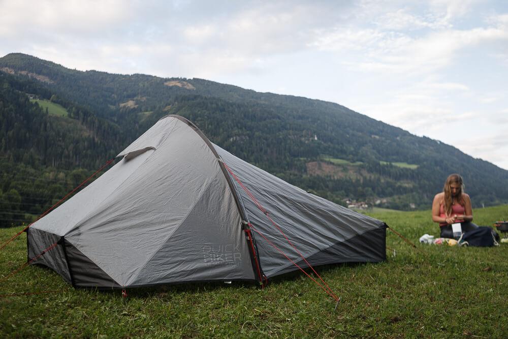 Zelt in Österreich