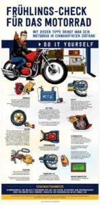 Infografik: Frühlings-Check für das Motorrad