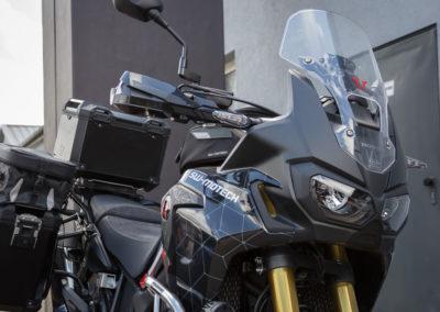 Die Honda Africa Twin CRF 1000 mit SW Motech Vollaustattung