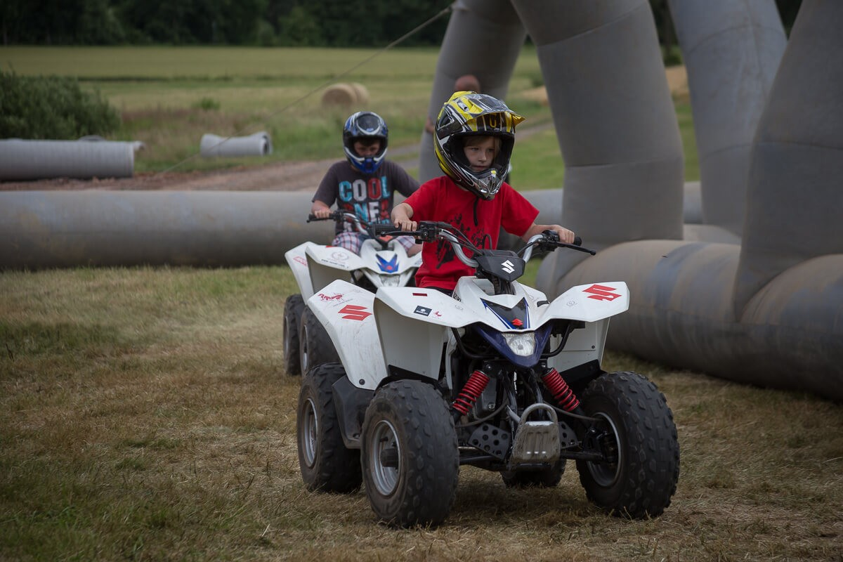 Kiddies auf Quads