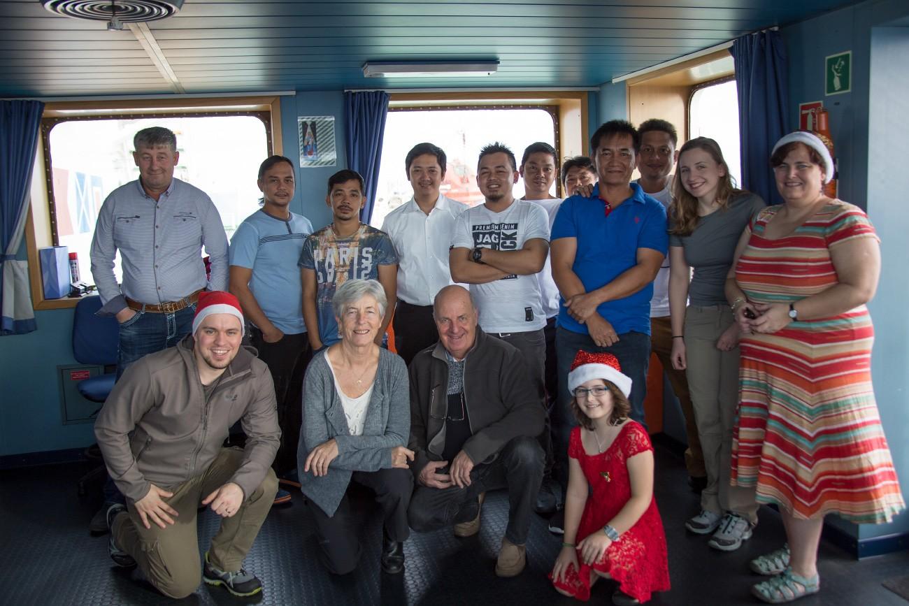 Weihnachten feiern mit der Crew